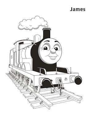 Gambar Mewarnai Thomas and Friends - 28