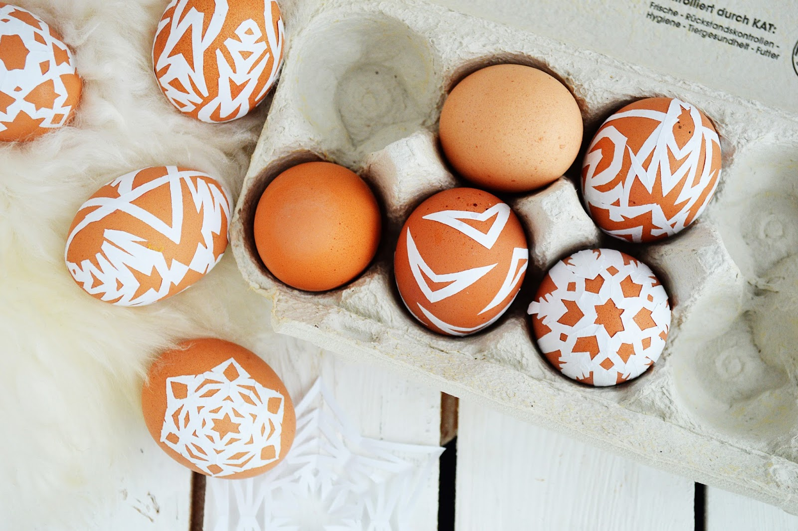 DIY Paper Snowflake Easter Eggs | Motte's Blog