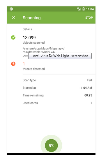 Dr Web Light Antivirus Screenshot Dr Web Light Antivirus Screenshot 2 ...