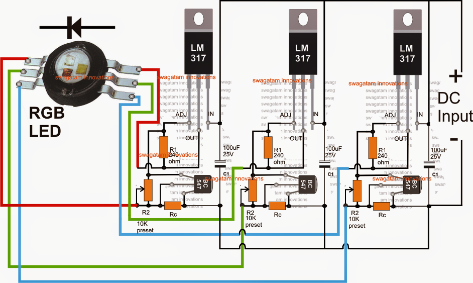 rgb led color mixer circuit