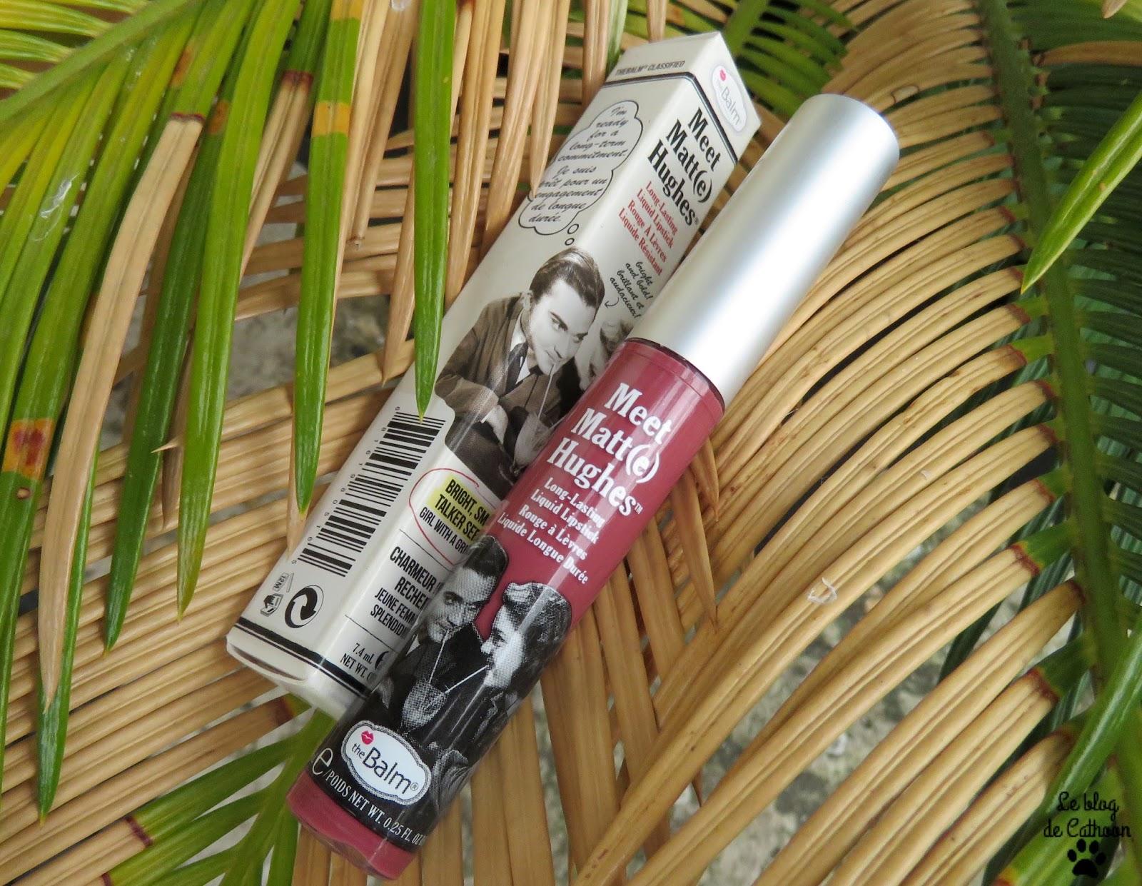 lipstick liquid matte The Balm Meet Matt Hughes Charming