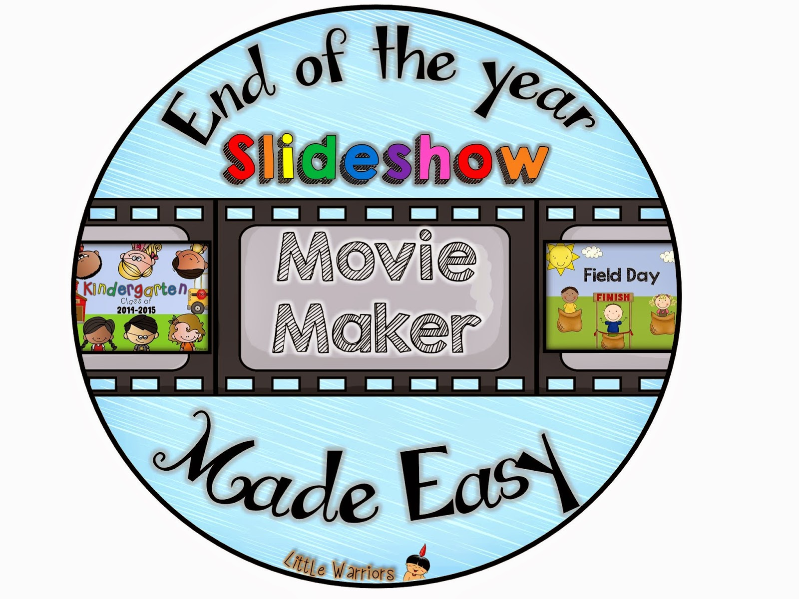End of the Year Slideshow Title Slides, Music, Tutorial and a