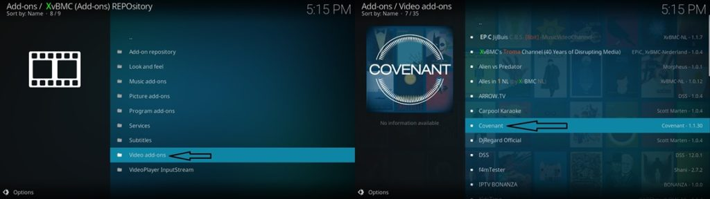 Video add-ons covenant