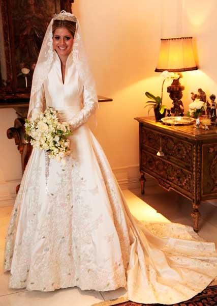 vestido de Sandro Barros