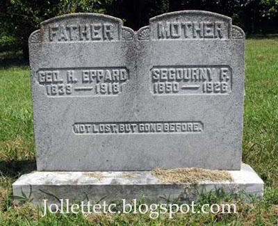 Eppard Tombstone Methodist Church Cemetery Shenandoah, Page, VA https://jollettetc.blogspot.com