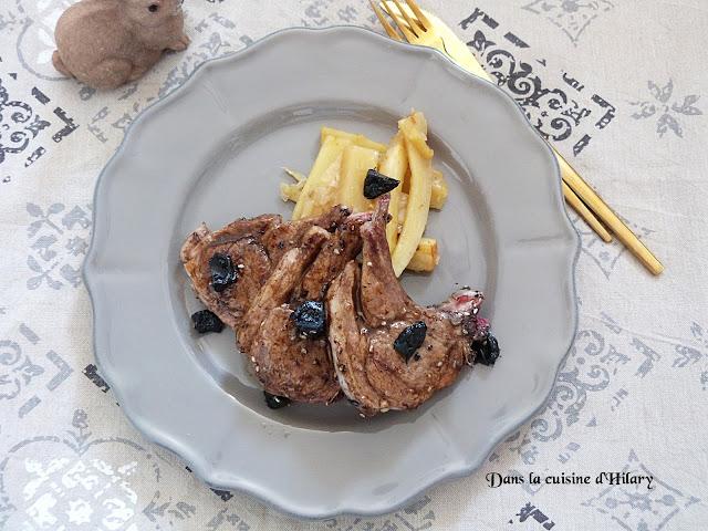 Côtelettes d'agneau fondantes marinées à l'ail noir - Dans la cuisine d'Hilary