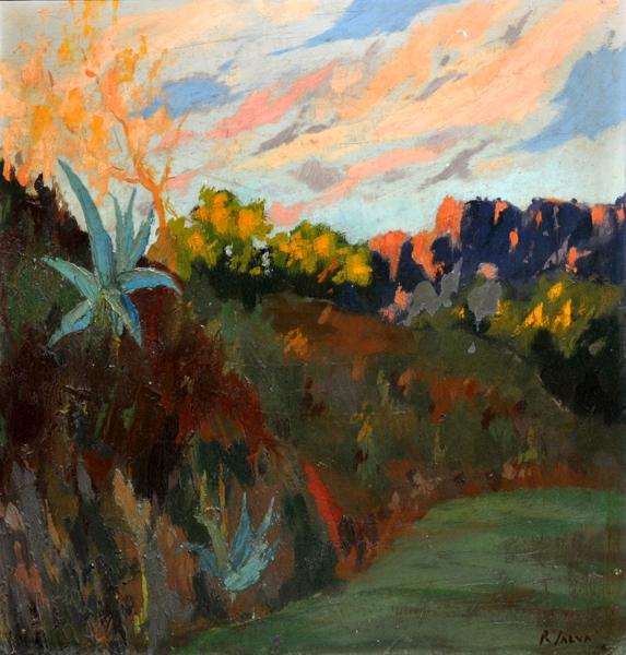 Rafael Salva Balaguer, Atardecer en Mallorca, Mallorca en Pintura, Mallorca pintada, Paisajes de Mallorca, Mallorca en Pintura
