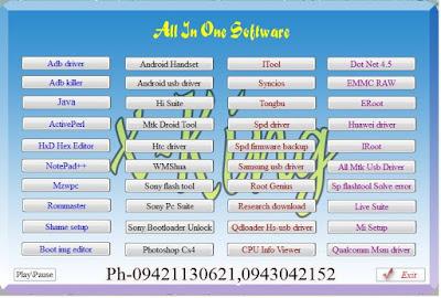 ဖုန္း Service အတြက္ All In One Software