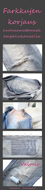 Ohje: Farkkujen korjaus ompelukoneella huomaamattomasti