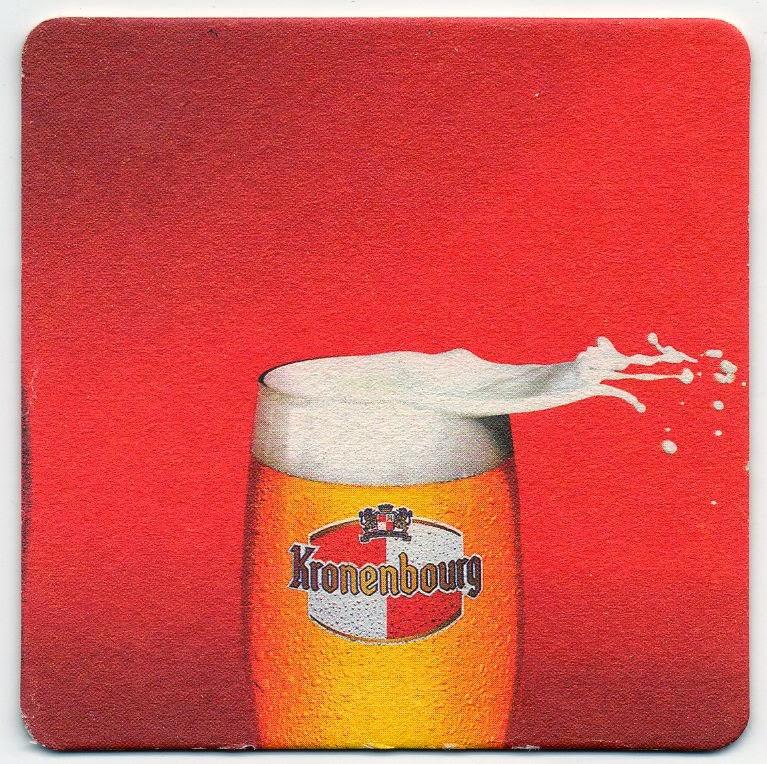 verso du sous-bock de la bière Kronenbourg