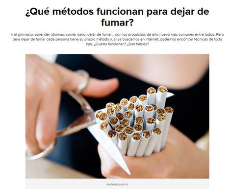 Ha dejado a fumar había unos problemas