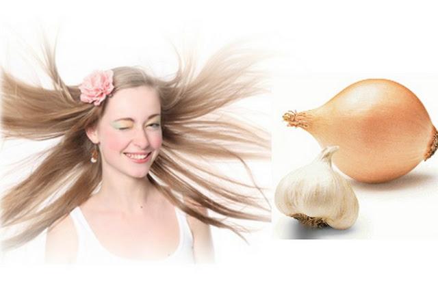 البصل والثوم لعلاج تساقط الشعر