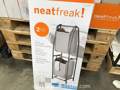 Keep your life and your laundry organized with the NeatFreak Rolling Vertical Laundry Sorter