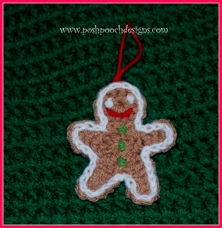 Posh Pooch Designs Dog Clothes Gingerbread Man Cookie Ornament Free