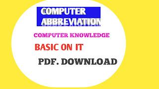 COMPUTER ABBREVIATION OR IT TERM