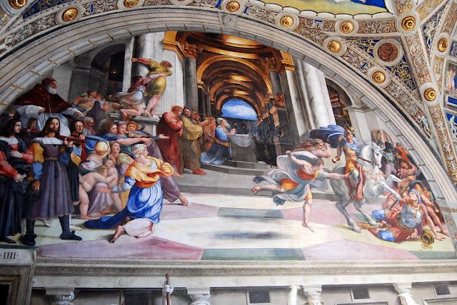 expulsion d'Heliodore du Temple, Raphaël