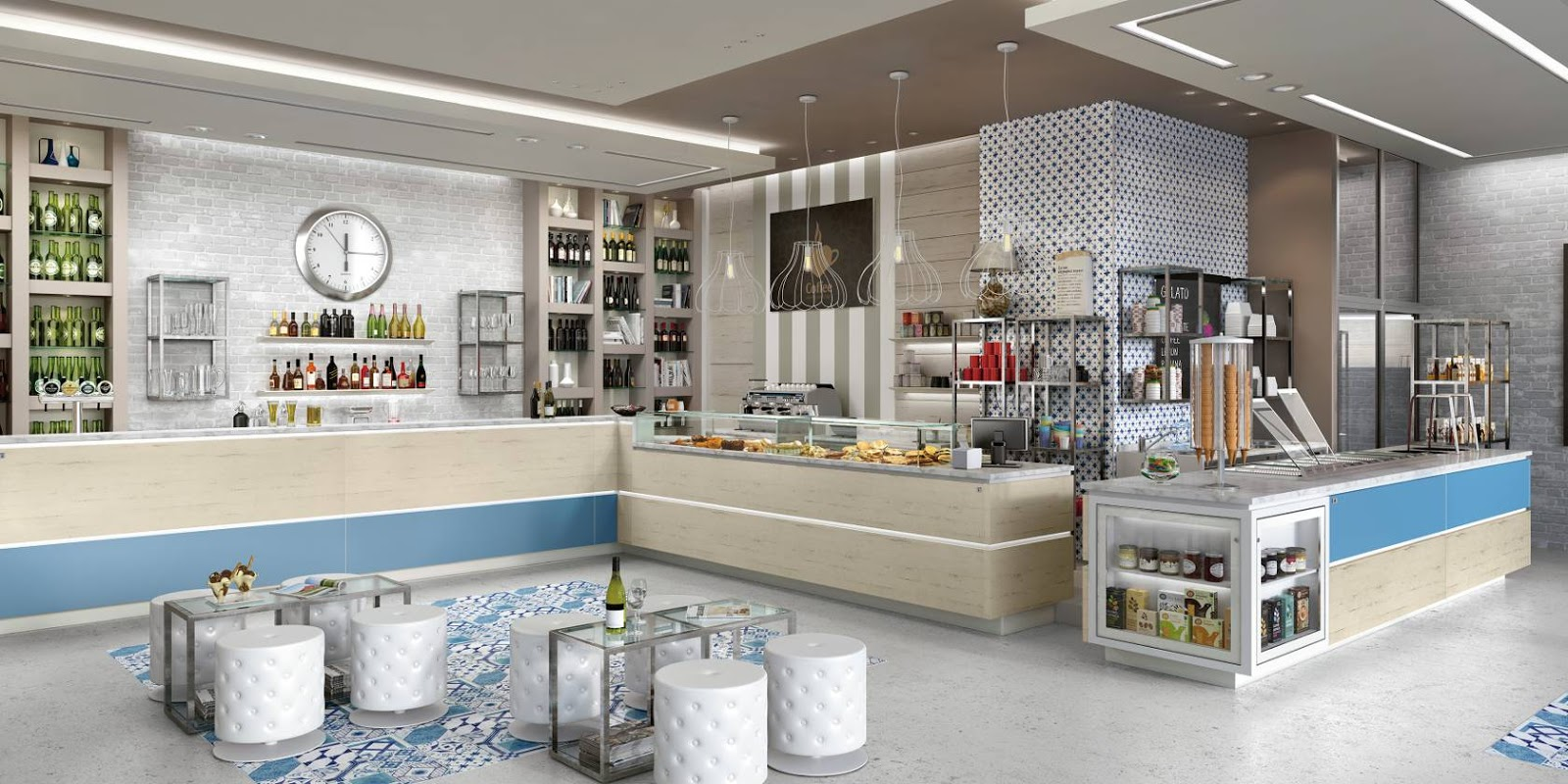 Degart arredamento progettazione bar ristoranti pub a for Bar arredamento