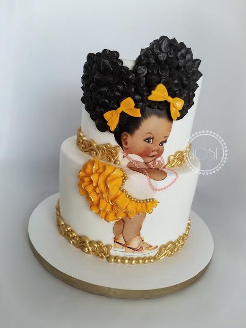Afro Girl Birthday Cake