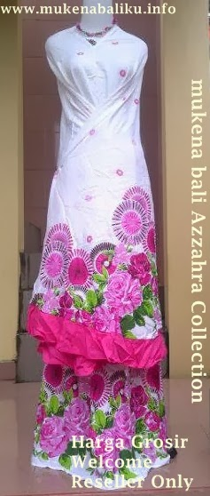 Mukena Bali Terbaru Motif Bunga