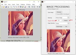 Resizing image dengan gui matlab