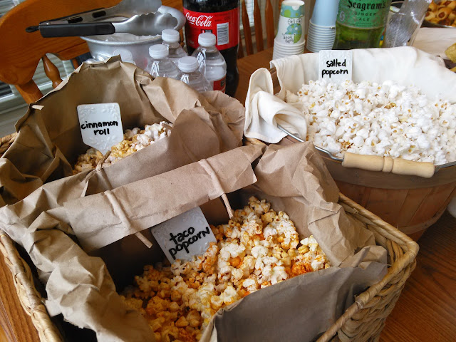 DIY Homemade Popcorn Bar