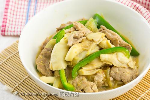 味噌蠔菇豬肉片 Miso Mushroom Pork03
