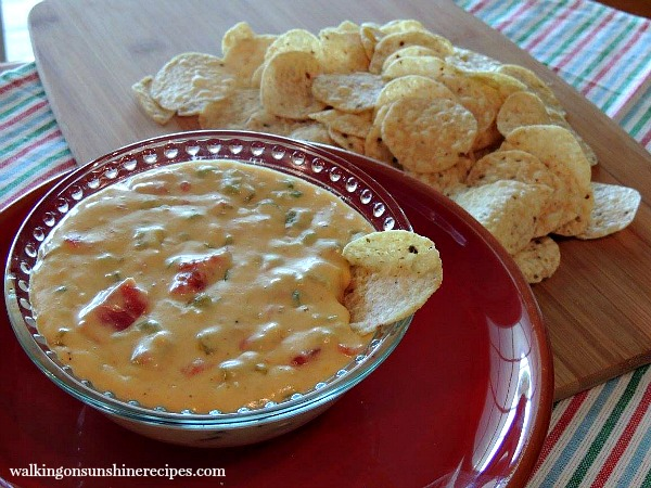 Homemade Queso Dip from Walking on Sunshine