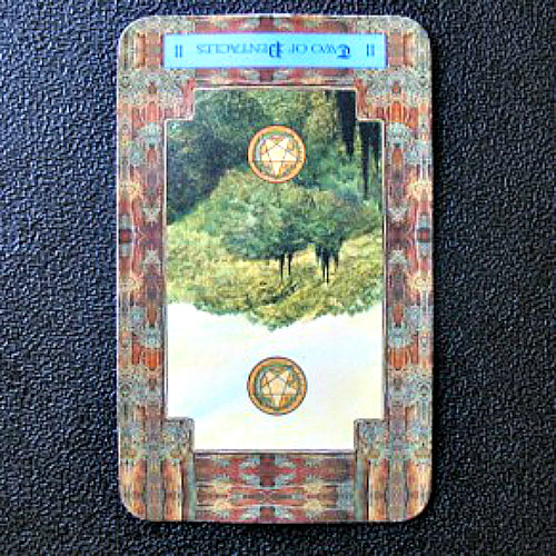 Reversed Two of Pentacles