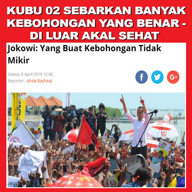 Jokowi: Yang Buat Kebohongan Tidak Mikir