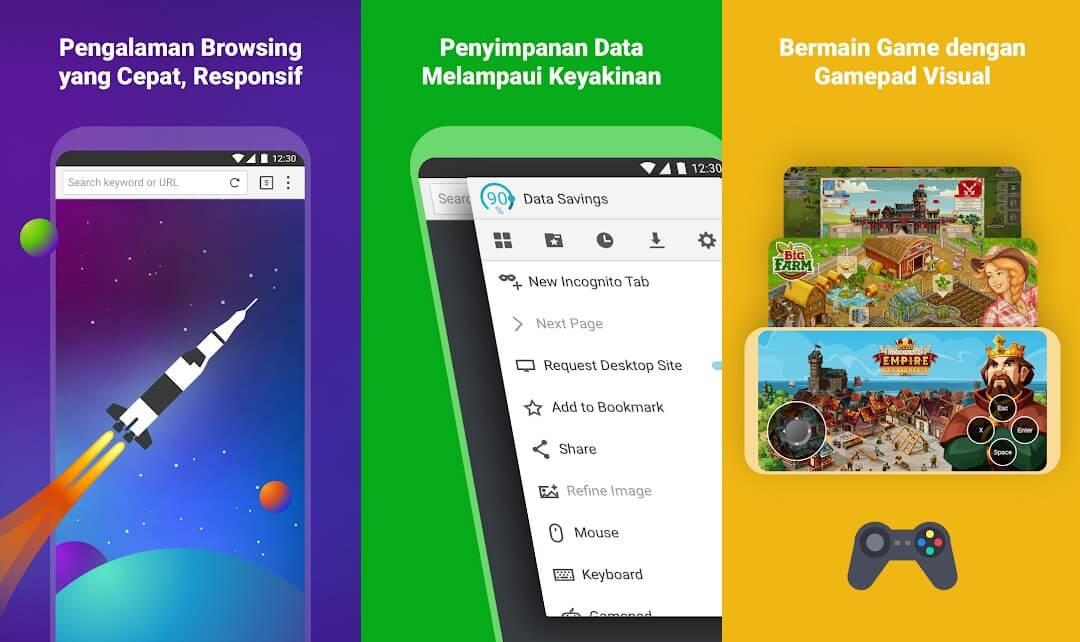 10 Aplikasi Browser Android Terbaik - Puffin
