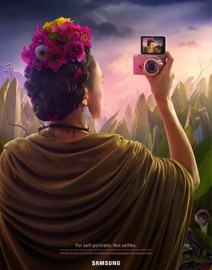 Campaña publicitaria samsung fotos selfies frida kahlo