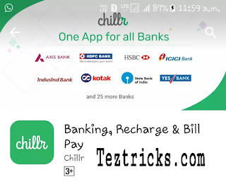 """We again back with Biggest Loot Till now by Chillr App.Now Chillr is a UPI App for All banks- One App for all banks. Chillr is now offering Rs.50 Per refer directly in your bank account . Few days back it was limited for HDFC bank but now this Refer & Earn program by Chillr is valid all banks. And Best Thing is the person you referred is only need to doa Transaction of minimum Rs.1 And Keep reading this we tell you Every Steps to Get Rs.50 per refer.  Tip:- If facing problem in creating MPIN on chillr then install BHIM UPI app and register there MPIN and you can use the same MPIN on Chillr Applicable .   So without wasting your Time further proceed and grab this Offer by Chillr UPI App.  Steps To Follow To Grab This Offer :-    * At first download & Install Chillr App from Here.  * After Installing Put Your Mobile Number which is registered with Bank.And Verify by OTP.  * Complete Your Profile with Details .   * In referral Code Section Put - TEJP585  * Lastly complete signup process is to generate MPIN from your Banks Net banking or Mobile Banking & enter that MPIN in chillr app. (You can also get MMID by Sending a SMS, Search on google How to get mmid via SMS with your bank name)  * Now Do a Minimum Transaction of Rs.1 or More. - You can Also Recharge Your Number for minimum Rs.10 to be eligible for this Offer. * Boom !! all set. Now You are eligible for Refer & Earn Rs.50 per referral fròm Chillr App.  How to Refer Friends in Chillr App:-    * First go to refer >> Get Referral Link & Referral Code .  * Share Your Referral Link With Your Friends .  * When Your friends do a minimum Transaction of Rs.1 or More ghen You will receive Rs.50 directly in your bank account within 3 to 7 working days.   Terms & Conditions :-    Chillr – a brand by Backwater Technologies is holding the contest """"Invite and Earn"""" (here-in-after referred to as """"The Contest"""") which is valid throughout India except in the states where prohibited by law. Earn real money straight into your bank ac"""