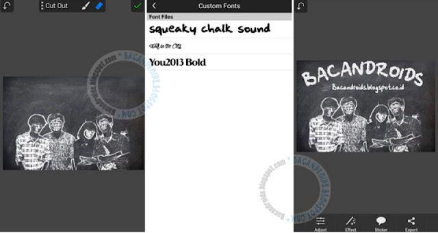 Tutorial Membuat Efek Kapur membuat di picsay pro Android