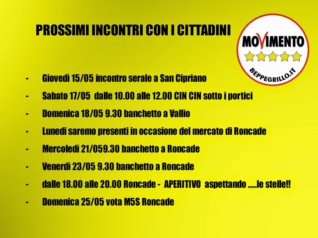 Calendario Elezioni.Grilli Del Sile Roncade Elezioni Comunali 2014