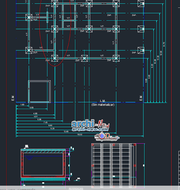 Executive 2 bedroom townhouse project in AutoCAD