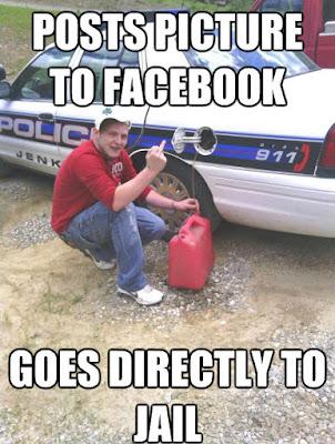 Fehler - Mann postet Straftat auf Facebook lustig
