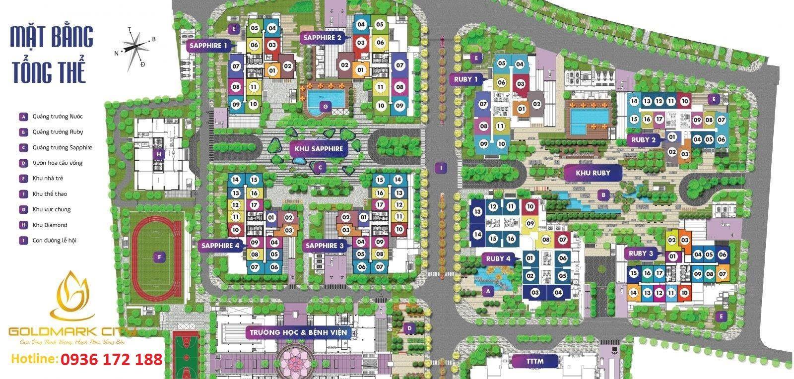Quy hoạch tổng thể dự án Goldmark City 136 Hồ Tùng Mậu
