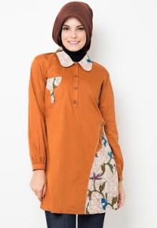 Model Baju Batik Terusan Untuk Muslimah Berhijab