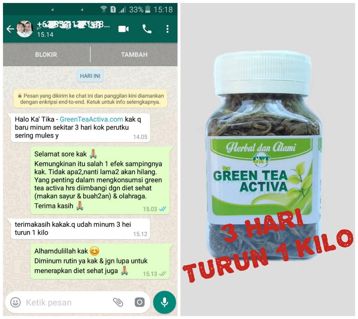 testimoni kurus green tea activa