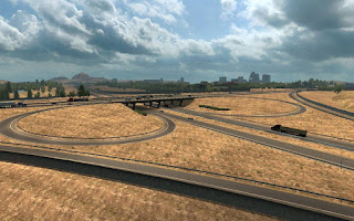 American Truck Simulator I-80I-580 INTERCHANGE IN RENO MOD Map Download MODs