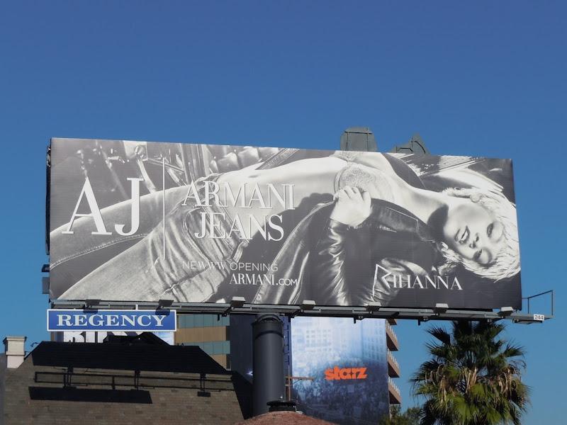 Rihanna Armani Jeans billboard