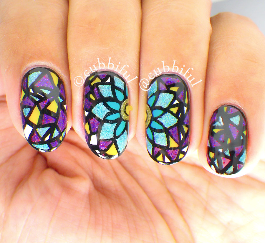 Stained Glass Nail Art: Cubbiful: Digital Dozen Does Autumn