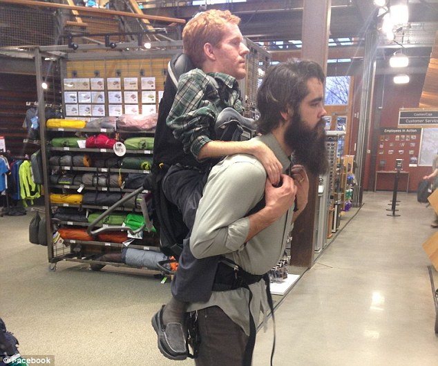 Friends carried their 65lb friend who suffers muscular atrophy across Europe on their backs to give him the trip of a lifetime.