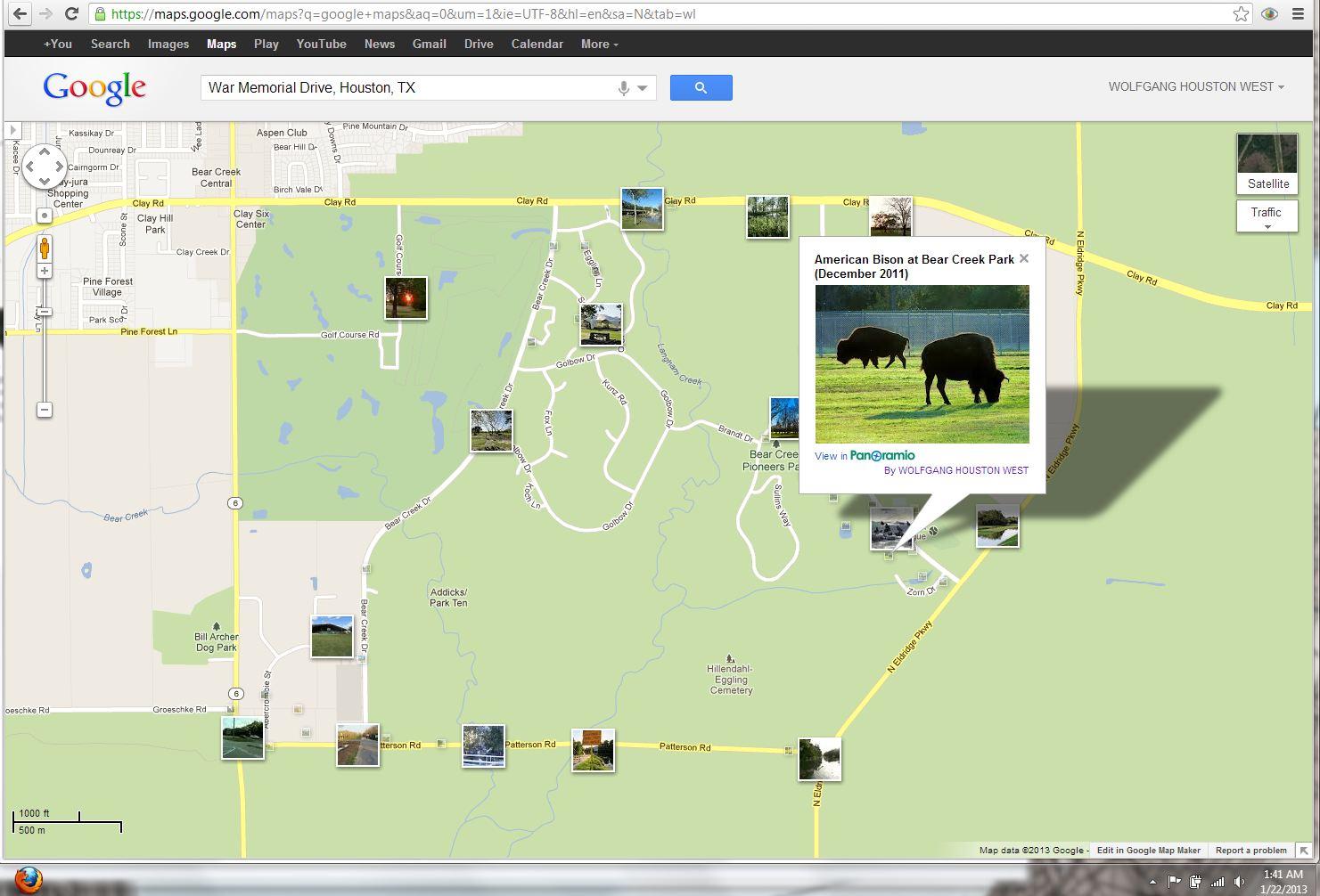 H Town West Photo Blog: Buffalo Bayou without buffaloes   American