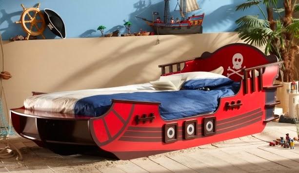 dormitorio para niño piratas