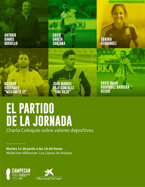 Primeras figuras del deporte apadrinan el lanzamiento de Campeonato de Canarias de Futbol Sub16 en Los Llanos de Aridane