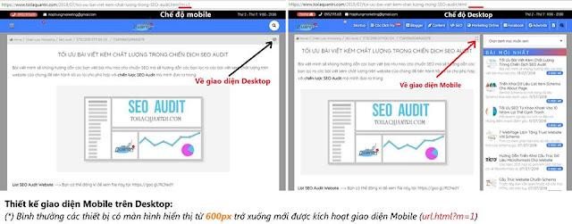 Hướng dẫn thiết kế 2 giao diện (Mobile/Desktop) cho Blogger