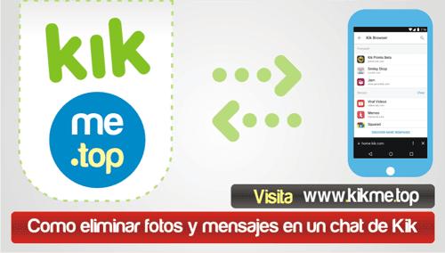 Como eliminar fotos y mensajes en un chat de Kik