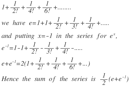 Find the sum of the infinite series
