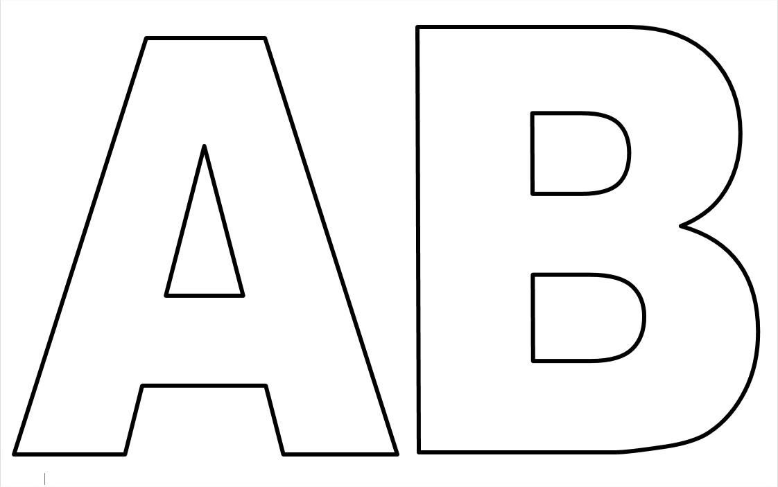 Extremamente ESPAÇO EDUCAR: Moldes de letras do alfabeto em tamanho grande para  LM53